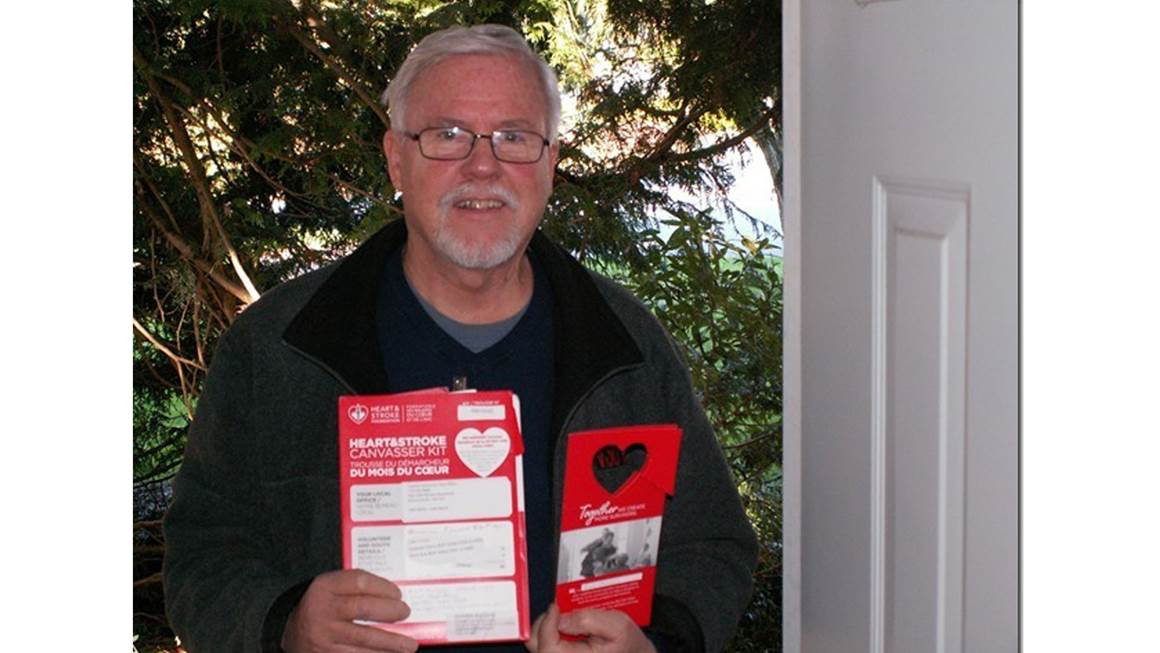Heart and Stroke Foundation volunteer Rich Mingus