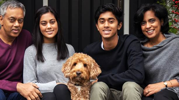 Praveen and his family