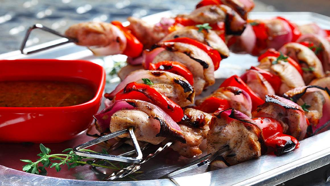 skewered lime spiced chicken