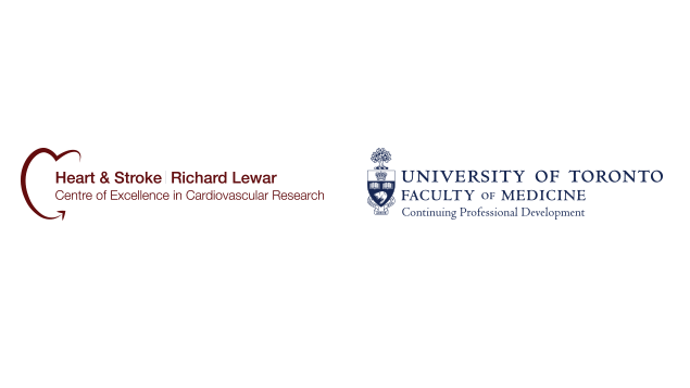 Logos for Richard Lewar Centre of Excellence in Cardiovascular Research and Universit of Toronto Faculty of Medicine, Continuing Professional Development