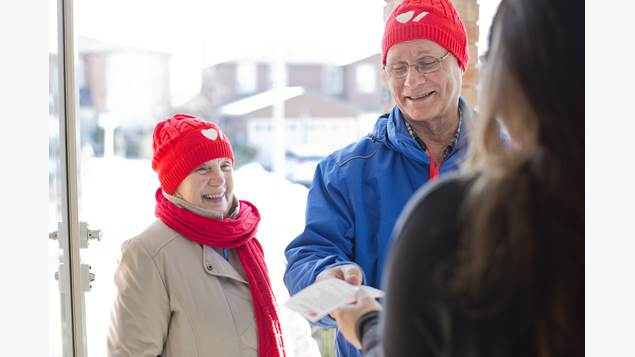 Two heart and stroke canvassers