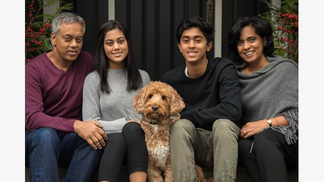 Praveen Varshney with his family