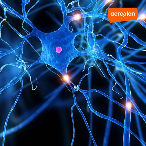 Neuron Cells with Aeroplan logo