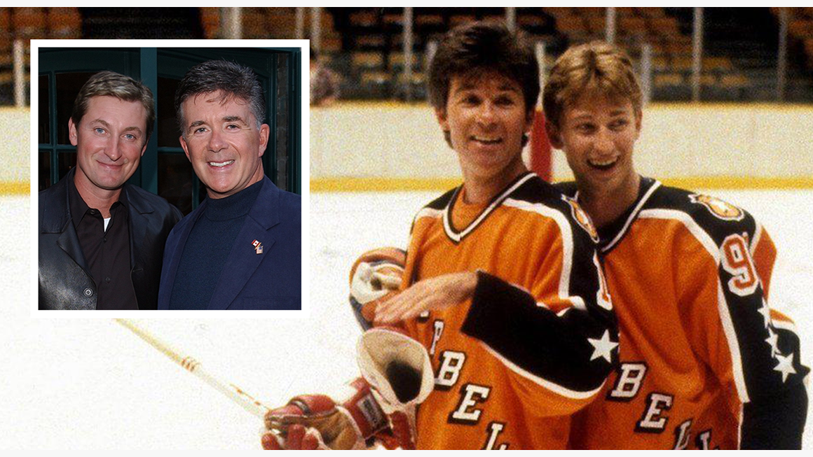 Wayne Gretzy and close friend Alan Thicke