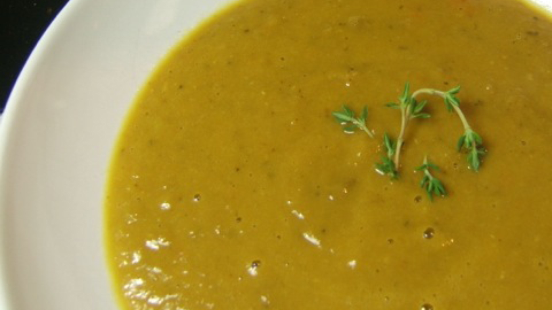 Carrot apple soup