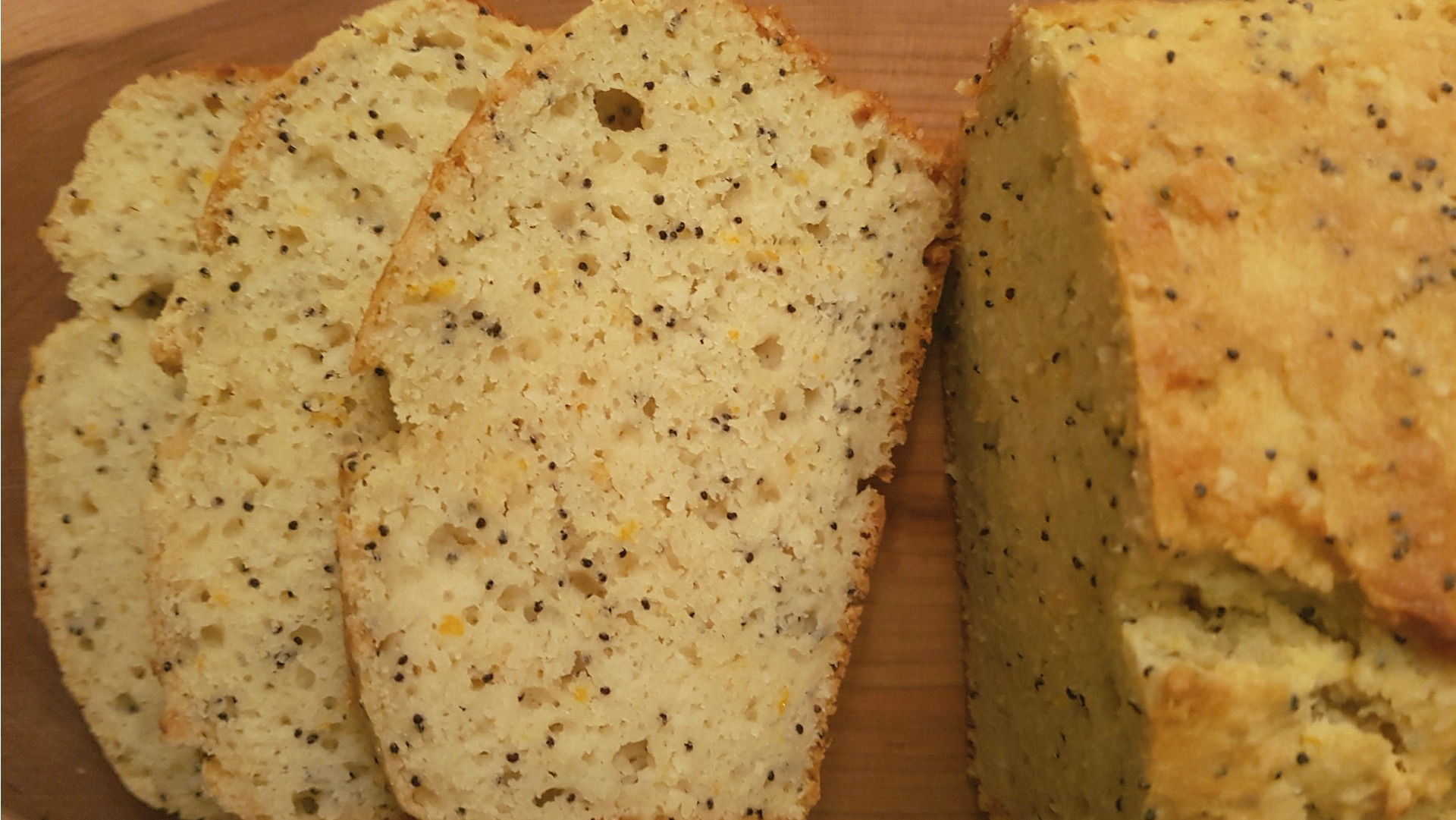almond orange and poppyseed loaf