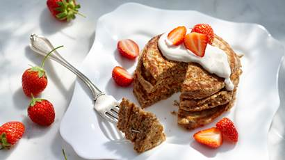 Cinnamon Multigrain Yogurt Pancakes