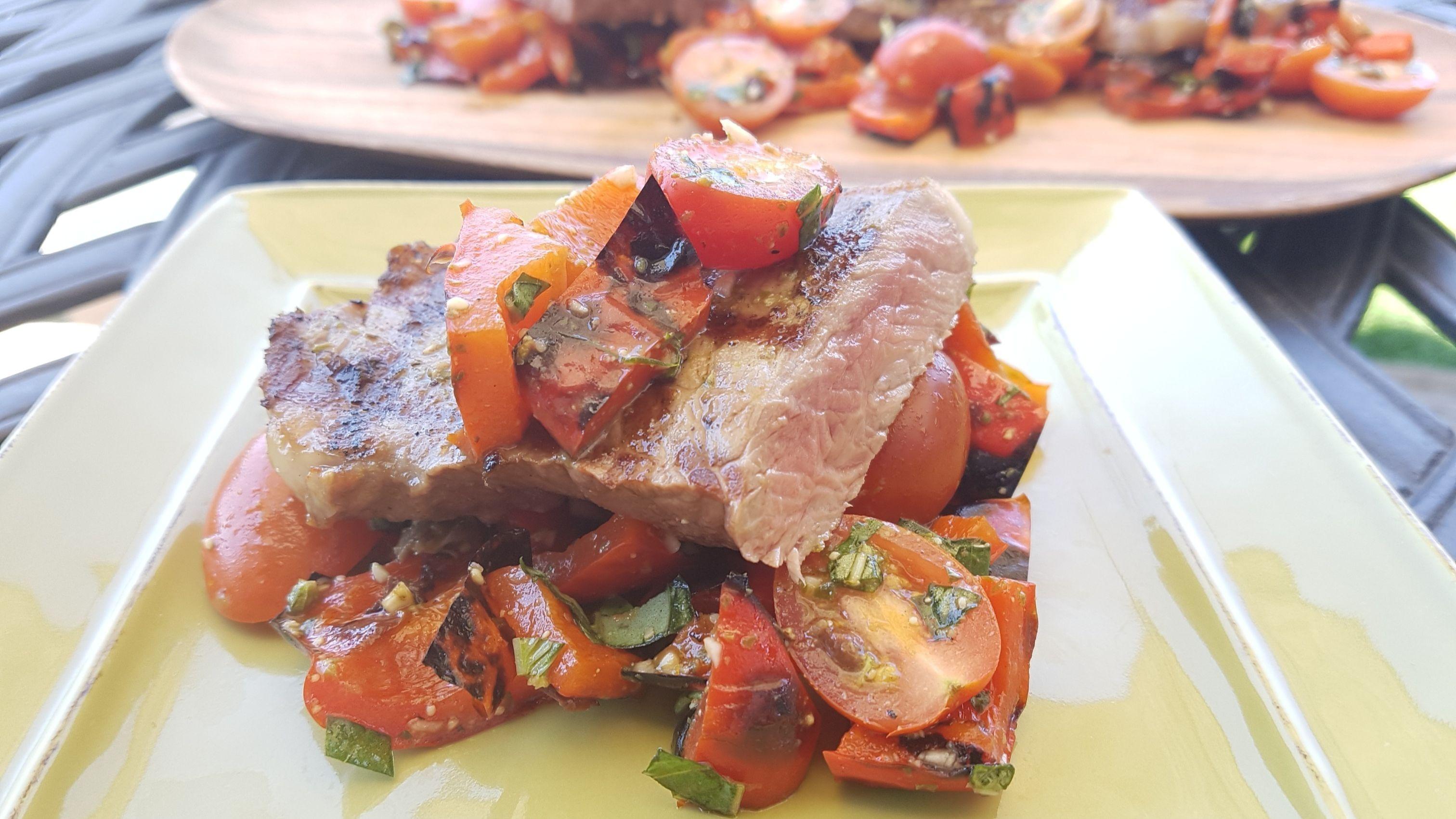 Grilled steak puttenesca