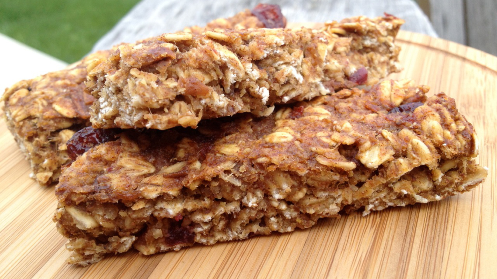 No bake toasted oat granola bars