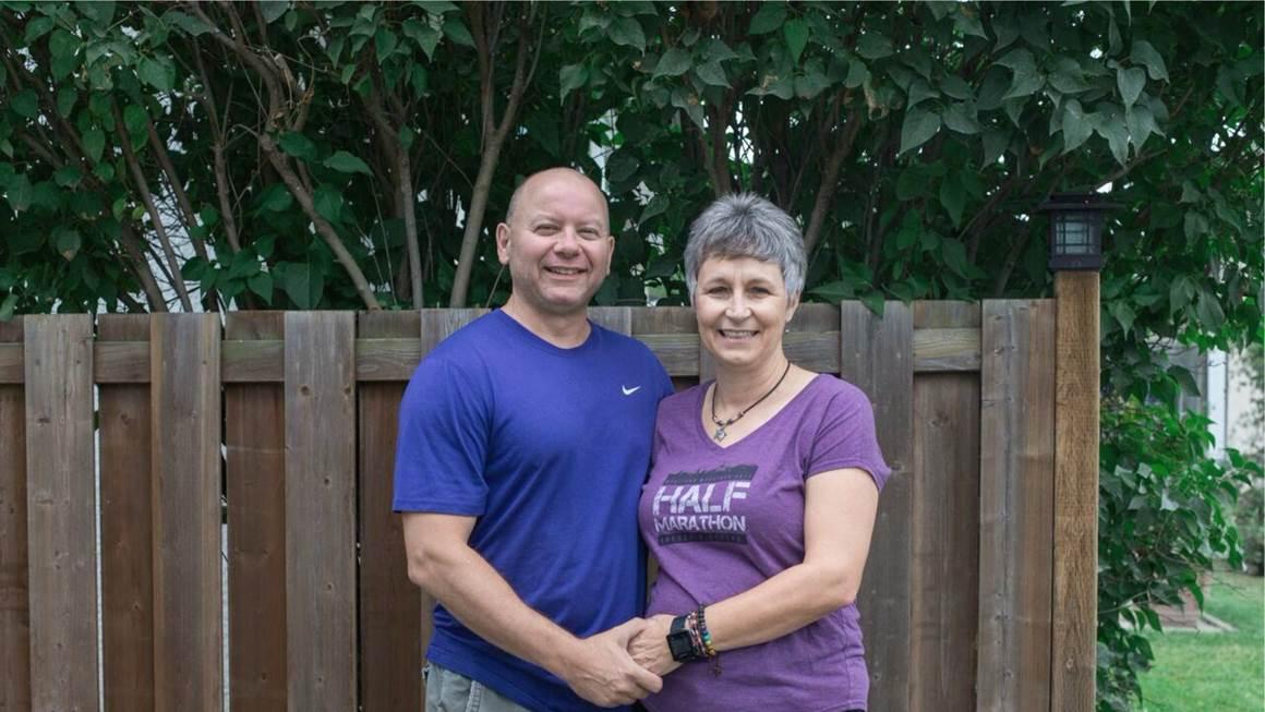 Patti Mersereau Leblanc with her husband Dennis