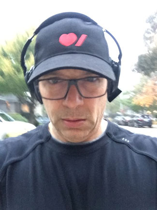 Paul Goldberg in a Heart & Stroke branded baseball cap