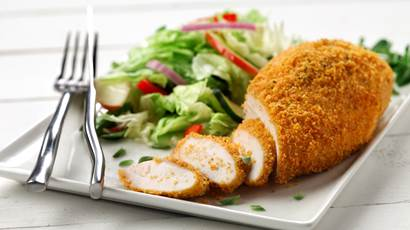 Baked chicken with a side salad