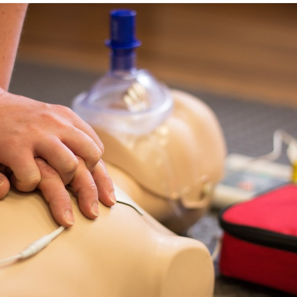 CPR training demonstration