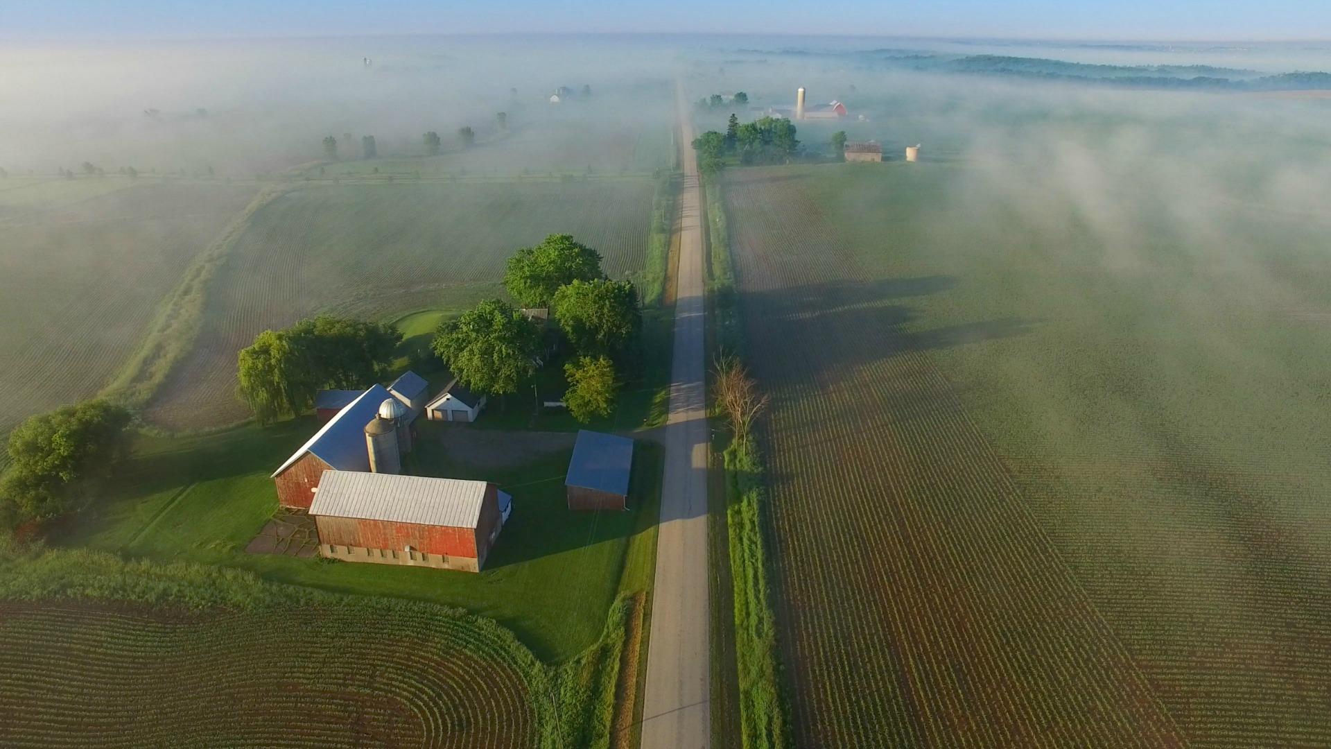 Farm on a rural road