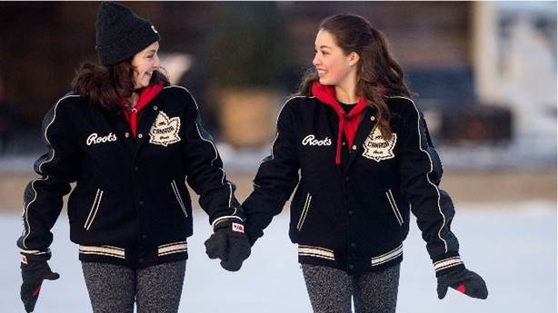 <p>Isabelle skating with her daughter Gabriella.</p>