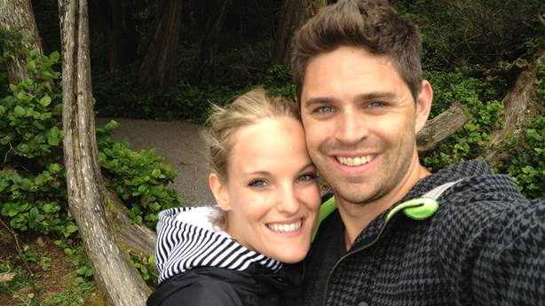 <p>Jessica and her husband, Craig Shirra.</p>