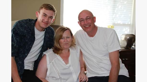 John, Carma and Rob Claydon