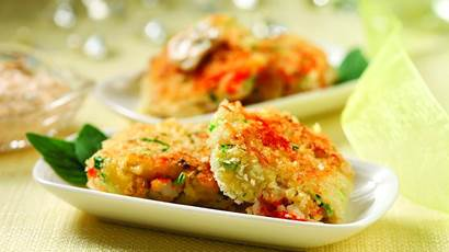 mini crab cakes with smarter tarter