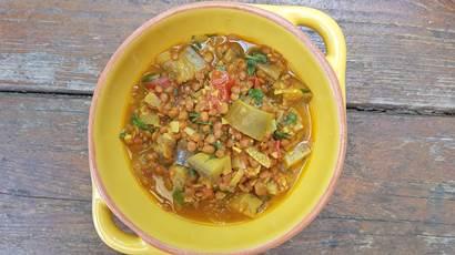 eggplant lentil curry