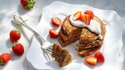 Cinnamon Multigrain Yogurt Pancakes