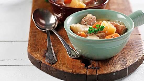 Winter vegetable pork ragout