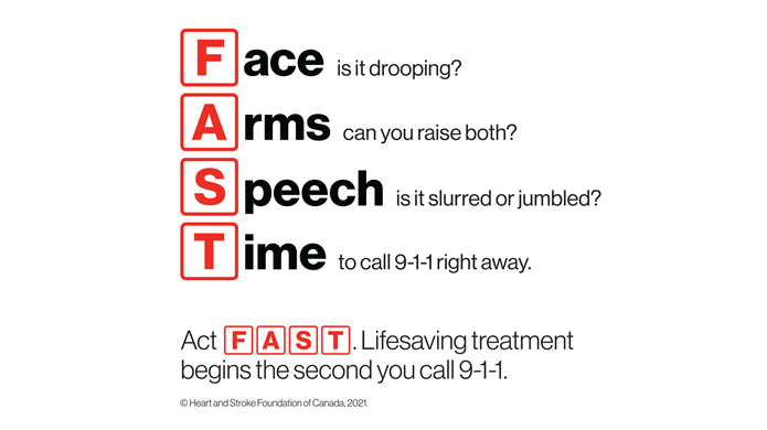 Download the FAST signs of stroke.