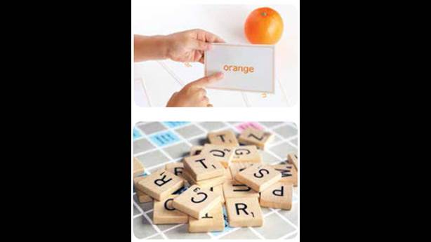 <p>1. Using flashcards can help </p> <p>2. Use Scrabble tiles to spell out words</p> <p>&nbsp;</p>