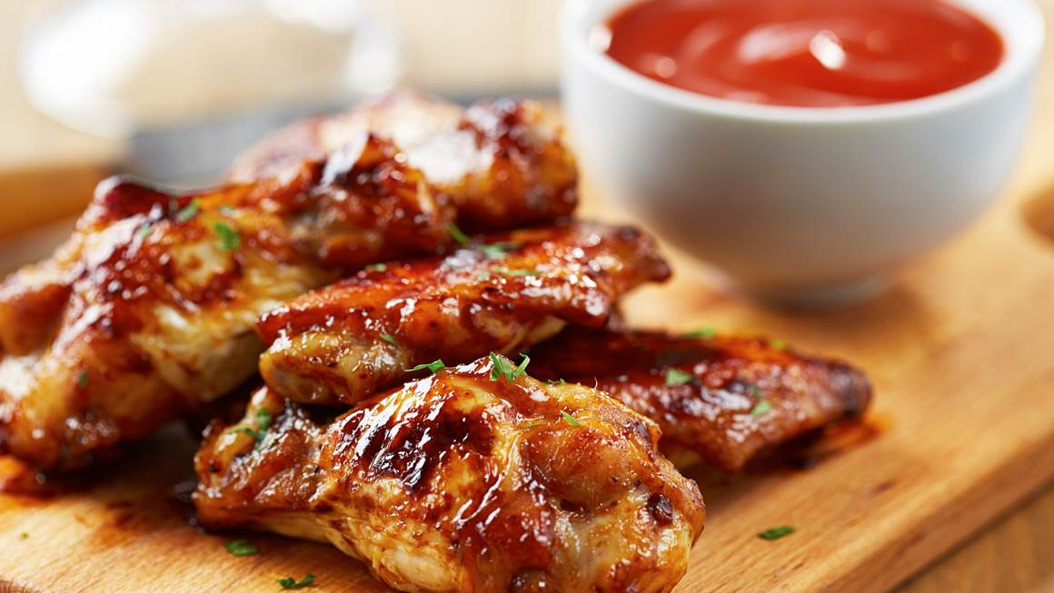 Lip smacking BBQ drumsticks